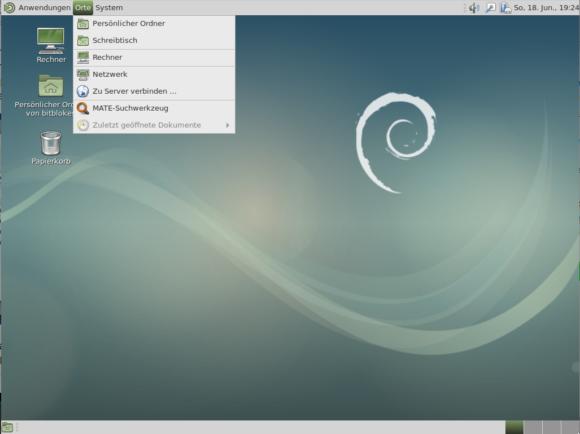 MATE als Desktop-Umgebung bei Debian 9
