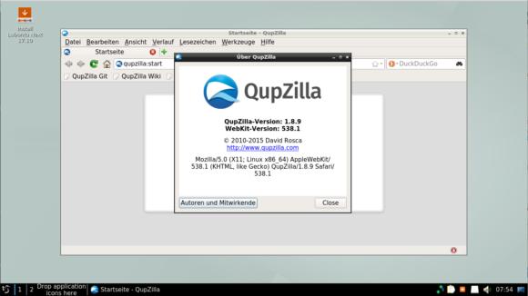 Lubuntu Next 17.10 QupZilla