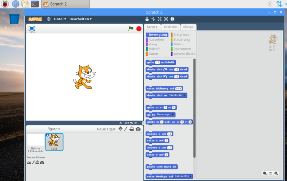 Scratch 2 in Raspbian für x86