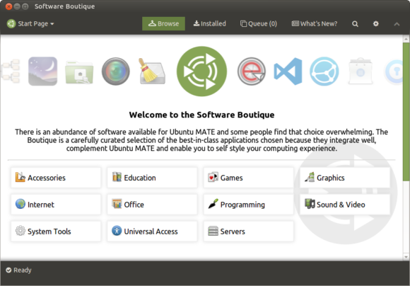 Neue Software Boutique für Ubuntu 17.10 (Quelle: ubuntu-mate.community)