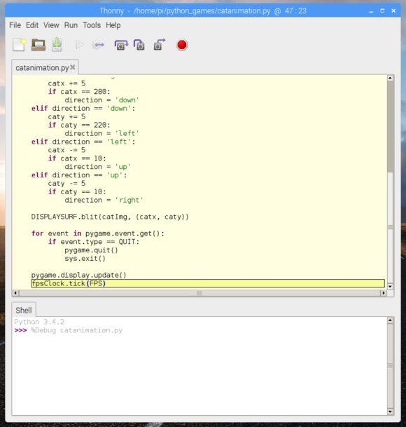 Python IDE Thonny (Quelle: raspberrypi.org)