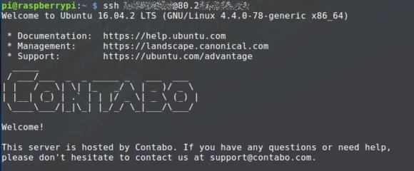 Vom Raspberry Pi auf den Server zugreifen