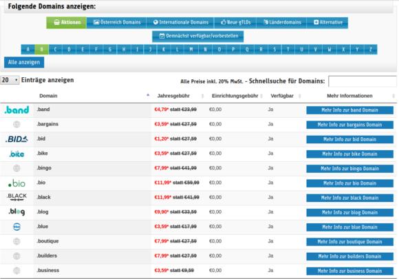 Du wolltest schon immer die Domain .blog registrieren? Gibt es gerade zum Aktionspreis!
