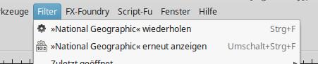Filter wiederholen - Strg+F