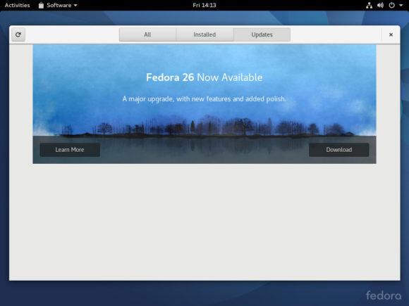 Upgrade auf Fedora 26 (Quelle: fedoramagazine.org)