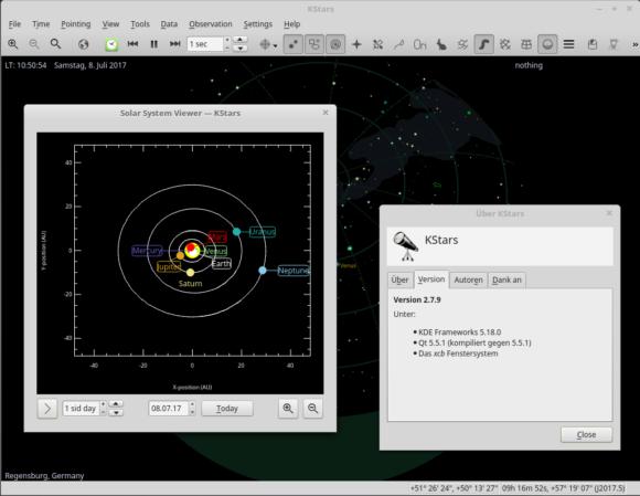 Während KStars Lite für ANdroid bei mir nicht läuft, lässt sich KStars 2.7.9 problemlos installieren