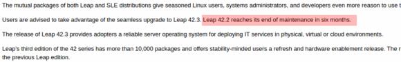 openSUSE Leap 42.3 ist da und der Support für 42.2 endet bald