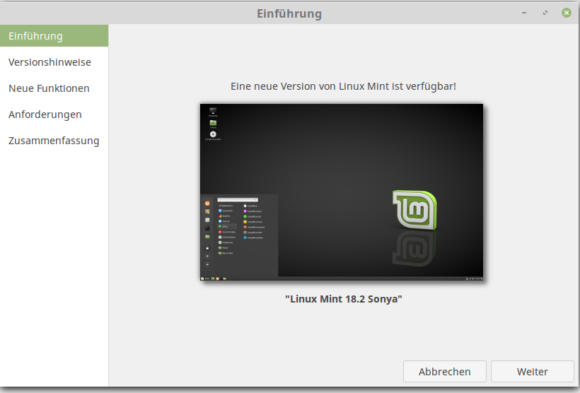 Upgrade auf Linux Mint 18.2