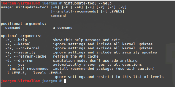 mintupdate-tool in Linux Mint 18.2
