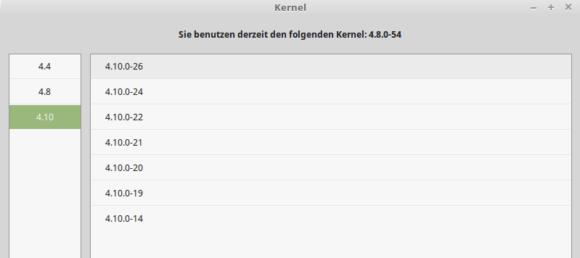 Linux Mint 18.2 mit Kernel 4.10