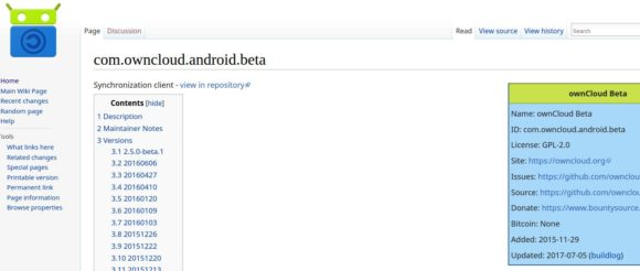 ownCloud Beta Client für Android ab sofort bei F-Droid