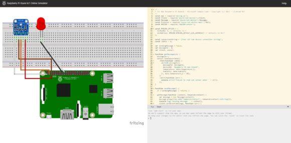 Microsoft Raspberry Pi Simulator (Quelle: raspberrypi.org)
