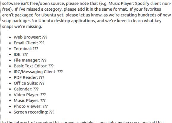 Welche Standard-Anwendungen wünscht Du Dir für Ubuntu 18.04?