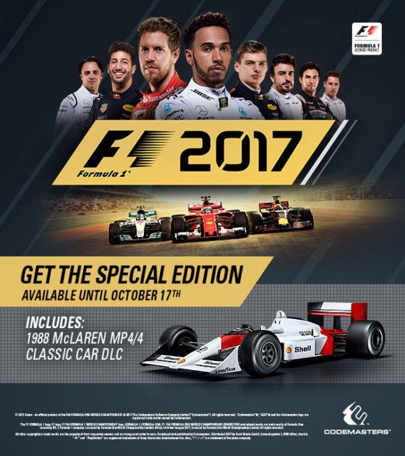 F1 2017 Special Edition gibt es bis zum 17. Oktober (Quelle: steampowered.com)