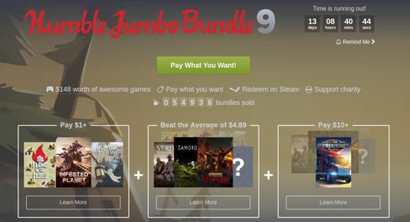 Das Humble Jumbo Bundle 9 mit drei Spielen für Linux ist da