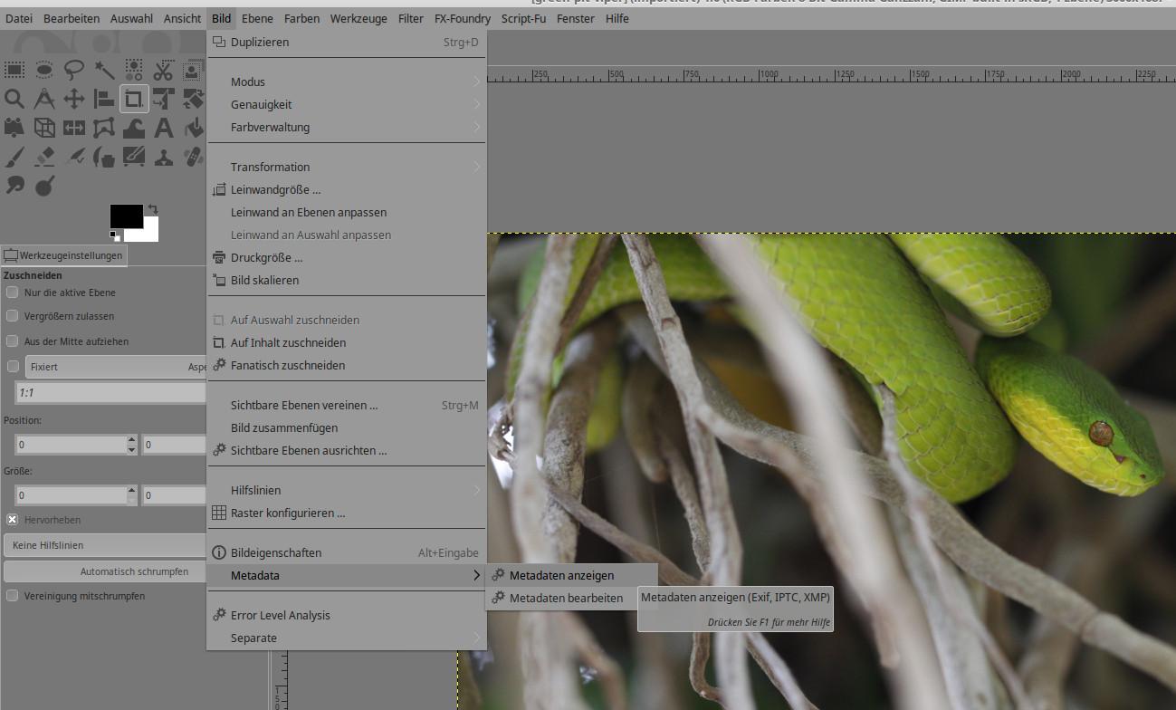 GIMP 2.9.6 mit Multi-Threading für GEGL selbst ausprobiert