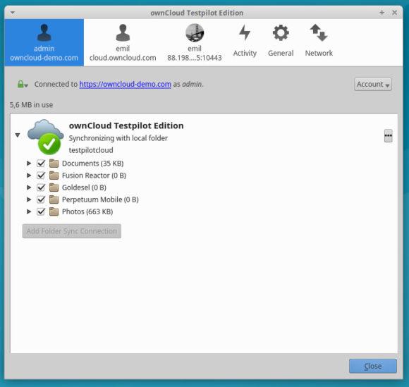 ownCloud Client RC (Quelle: owncloud.org)