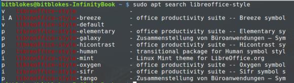 Verschiedene Symbolstile für LibreOffice
