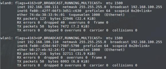 Drahtlose Netzwerkkarten heißen weiterhin wlanX, sofern die Ethernet-Schnittstelle benutzt wird