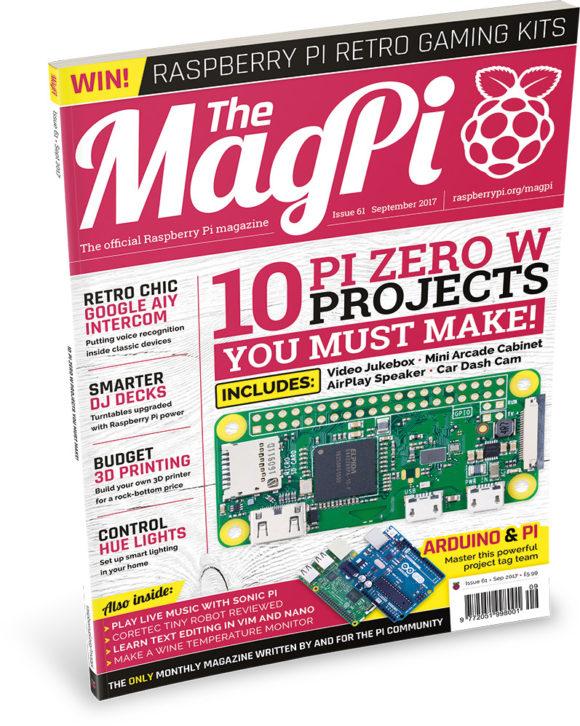 MagPi 61 ist da (Quelle: raspberrypi.org)