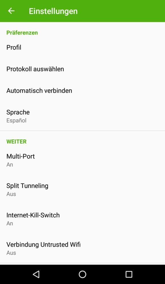 Die Android App von PureVPN bietet einen Kill Switch