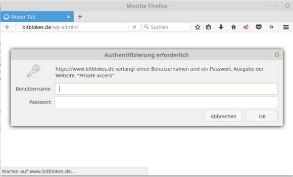 Wordpress und wp-admin oder wp-login.php noch besser geschützt