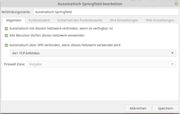 Unter Linux automatisch mit dem VPN verbinden - hier Linux Mint 18.2
