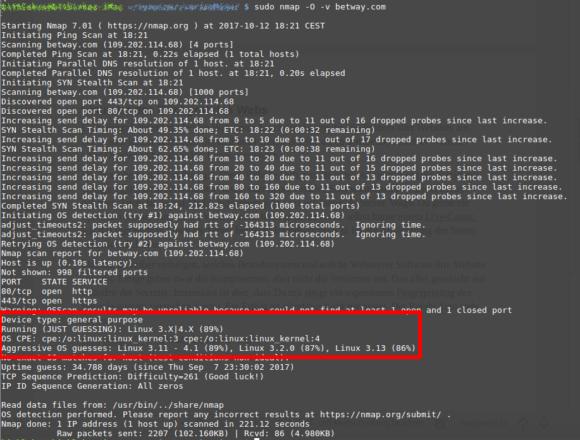 Betway.com läuft mit 89 Prozent Wahrscheinlichkeit mit Linux