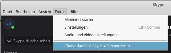 Chatverlauf aus Skype 4.3 importieren