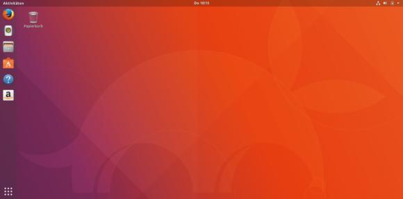 Ubuntu 17.10 Artful Aardvark Desktop