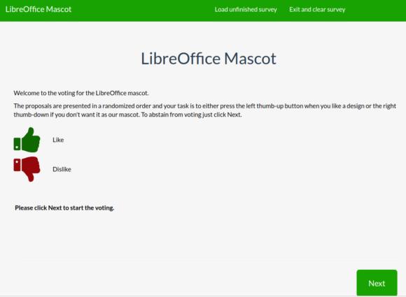 Für das neue Maskottchen von LibreOffice abstimmen