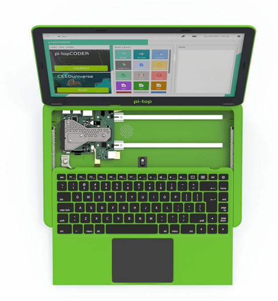 pi-top mit herausziehbarer Tastatur (Quelle: raspberrypi.org)