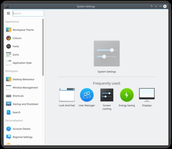 KDE Plasma 5.11 mit überarbeiteten Einstellungen (Quelle: kde.org)