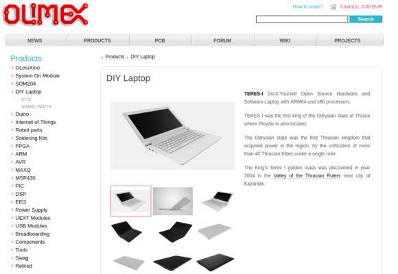 Das TERES-I gibt es in schwarz oder weiß