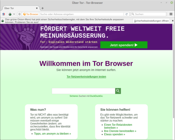 Tor Browser 7.0.8 ruft zum digitalen Widerstand auf
