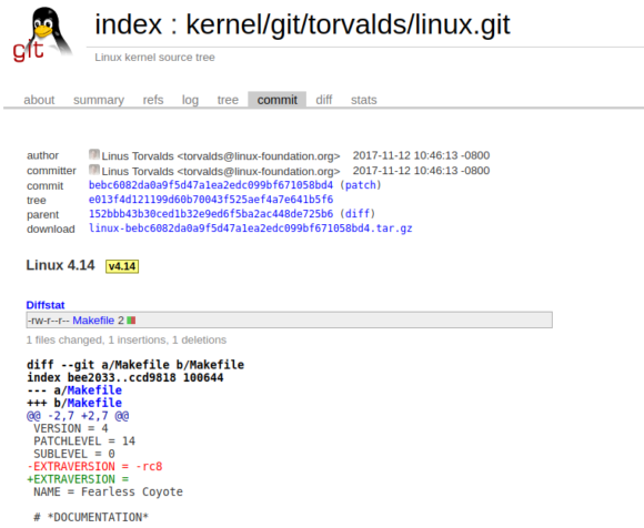 Linux Kernel 4.14 nennt sich Fearless Coyote