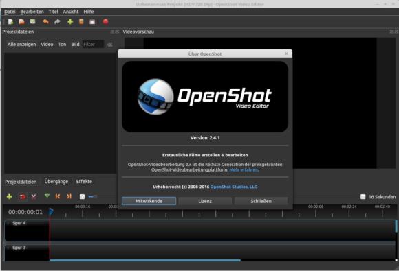 OpenShot 2.4.1 ist verfügbar