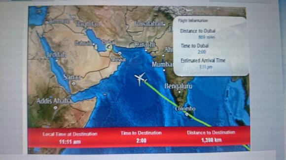 Über dem Indischen Ozean funktioniert Internet während des Fluges