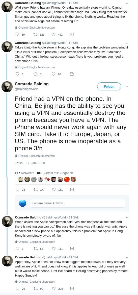 Regierung Chinas kann Smartphones mit VPNs unbrauchbar machen?