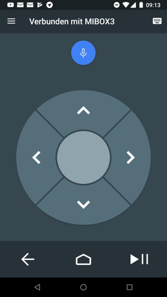 Android TV Remote Control - schlicht, aber funktioniert mit dem PINE64