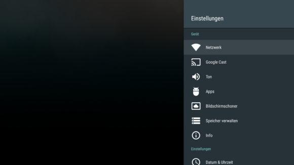 Android TV Einstellungen