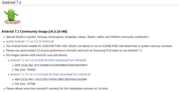 Android TV für PINE64