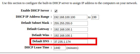 Standard DNS ist bei mir derzeit FreeDNS