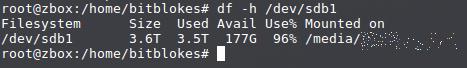 Aha! Mein Datensystem mit ext4 hat knapp 200 GByte herausgerückt!