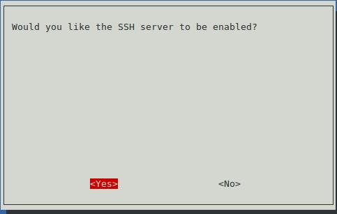 SSH Server aktivieren