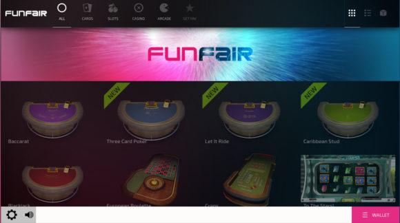 FunFair Showcase nunmit 12 Spielen