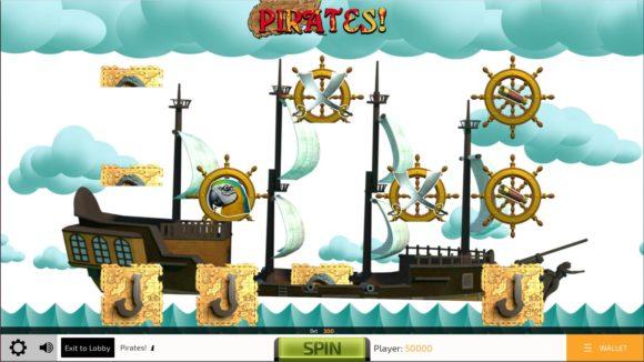 Pirates ist ein typischer Glücksspielautomat