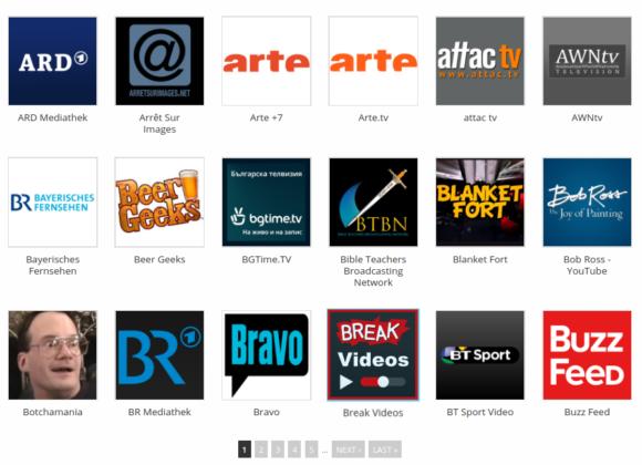 Einige der Add-ons aus dem offiziellen Kodi Repository
