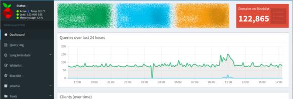 Pi-Hole blockiert derzeit fast 123.000 Domains