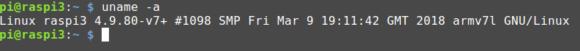 Raspberry Pi mit Linux-Kernel 4.9